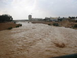 Flooded Beersheva watercourse