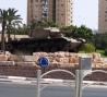 Tank in traffic circle