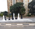 Chessboard traffic circle in Bet