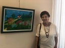 Gina & her painting 7.2018